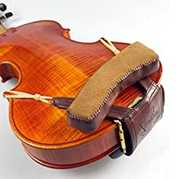 Hand Made Beautifully Crafted Leather Padded Violin Shoulder and Chin Rest for 1/4, 1/2, 3/4 and 4/4 - Left Shoulder