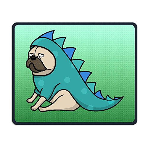 Pugs In Dinosaur Costumes (Pug Not Dinosaur Rubber Mousepad Gaming Mouse Mat 25 X 30 CM)