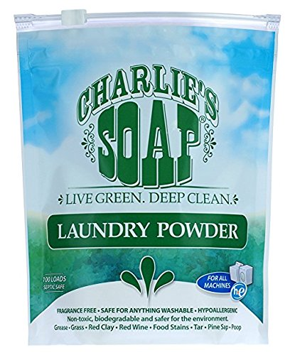 Rinse Free Soap - Charlie's Soap – Fragrance-Free Laundry Powder detergent – 100 Loads (2.64 lbs, 1 Pack)