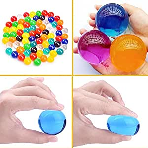 Large Water Beads 8 OZ (250 Pcs) Growing Gel Balls Jelly Crystal Water Balls for Kids Tactile Toy and Vase Fillers