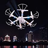 GHP MJX X600 2.4G 4-Channel 6-Axis White Remote Controlled Helicopter w LED Lights