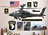 best army wall decals  AH-64 Apache Longbow Helicopter Real Decals