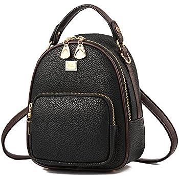 Gashen Women s Mini PU Leather Backpack Purse Casual Drawstring Daypack  Convertible Shoulder Bag (black) bd7e7648e4d96