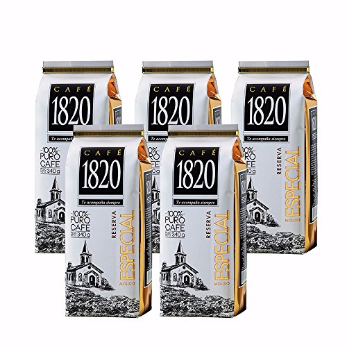 Cafe 1820 Reserva Especial - Costa Rica Gourmet Ground Premium Coffee - 12 oz (340 gr) 5 Pack