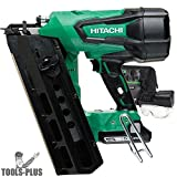 "Hitachi NR1890DR 18V Cordless Brushless Plastic Strip 3-1/2"" Framing Nailer"