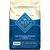 Blue Buffalo Life Protection Formula Senior Dog Food – Natural Dry Dog Food for Senior Dogs – Chicken and Brown Rice – 30 lb. Bag
