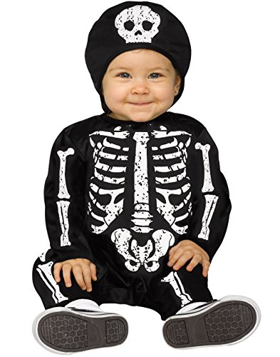Fun World White Baby Bones Skeleton Infant Costume -