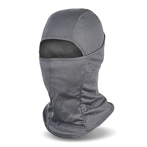 Balaclava Windproof Ski Mask Cold Weather Face Mask Motorcycle Neck Warmer or Tactical Hood, Gray