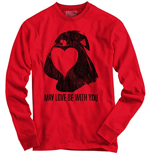 Brisco Brands Love Be With You Cute Valentines Day Gifts Funny Star Wars Long Sleeve Shirt
