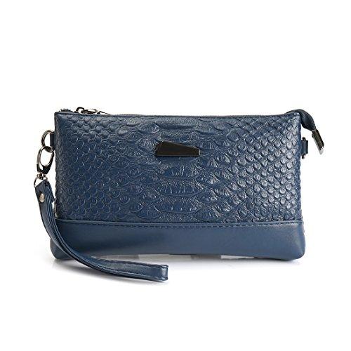 Cross Purse Wrislet Leather Bag Body Handbag Clutch Womens Wallet sapphire SEALINF Shoulder qFwxIn6OxE