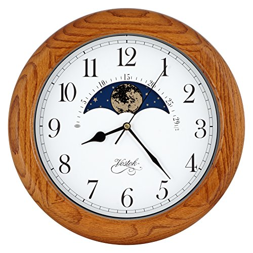 Amazon Com 14 Inch Exclusive Solid Oak Wood Non Ticking