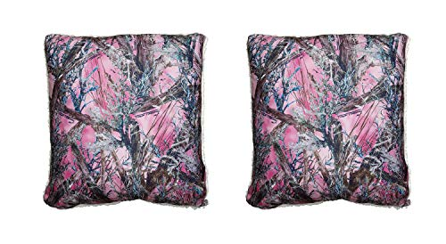 Things2Die4 True Timber Camo Pink MC2 Pattern Microfiber Sherpa Throw Pillow Set of 2 (E Mc2 Pillow)