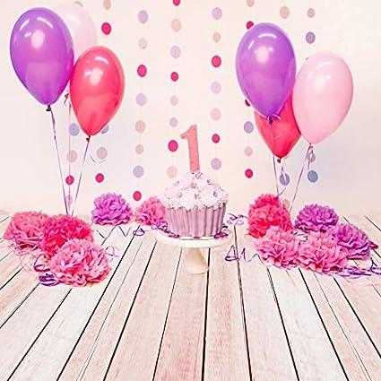 Photo Studio Photography Background Color : 4, Size : Thin Cloth 180x180cm PPJY Birthday Photography Background Birthday Party Party Balloon Flower Decoration Photo Studio