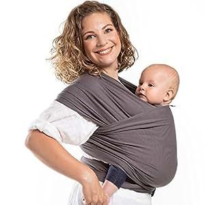 Amazon Com Boba Baby Wrap Organic Dark Grey Baby