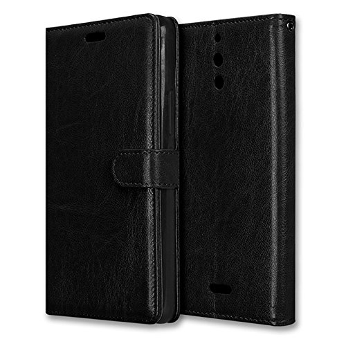 Alcatel Pixi 4 6.0 inch (4G) Case, Abtory [Card Slot] [Stand Feature] Magnetic Closure PU Leather Wallet Case Folio Flip Phone Case for Alcatel OneTouch Pixi 4 6.0 inch (4G) Black