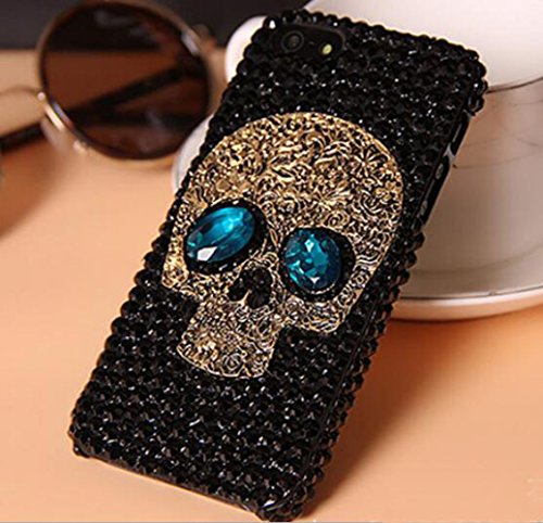 Iphone 7 Skull Case,Jesiya Luxury 3D Shiny Crystal Sparkl...