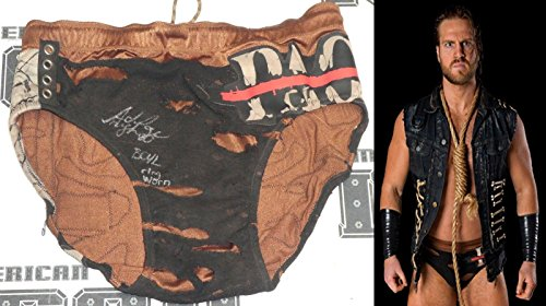 Hangman Adam Page Signed Ring Worn Used Trunks COA New Japan Pro Wrestling ROH - Autographed Wrestling Robes, Trunks and Belts (Ring Worn Wrestling)