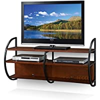 Leick Home Floating Wall Mounted TV Stand, Medium Oak Finish