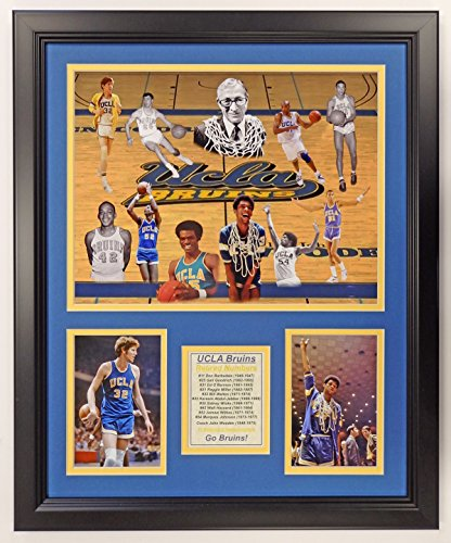 (Legends Never Die NCAA UCLA Bruins Basketball Greats Double Matted Photo Frame, 18