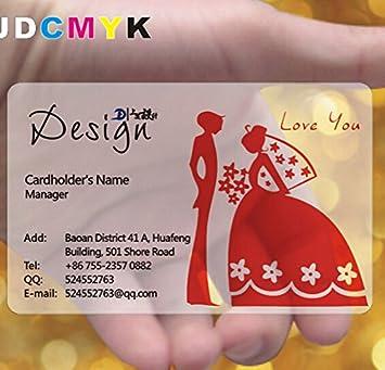 Jdcmyk 500 Pcs Personnaliss Dimpression De Carte Visite Plastique Transparente En