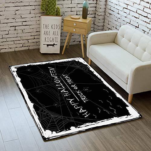 iBathRugs Door Mat Indoor Area Rugs Living Room Carpets Home Decor Rug Bedroom Floor Mats,Abstract Halloween Background Black -