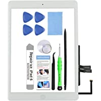 for iPad 6 (6th Gen 2018) A1893 A1954 Screen Replacement Glass Touch Digitizer Repair Kit with Home Button & Tools…