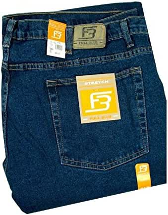 Full Blue Big Mens Traditional Fit Stretch Jean