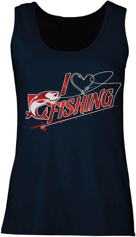 lepni.me Camisetas sin Mangas para Mujer Me Encanta la Pesca - Pescador, Ropa de Hobbie para los Amantes de los Peces: Amazon.es: Ropa y accesorios