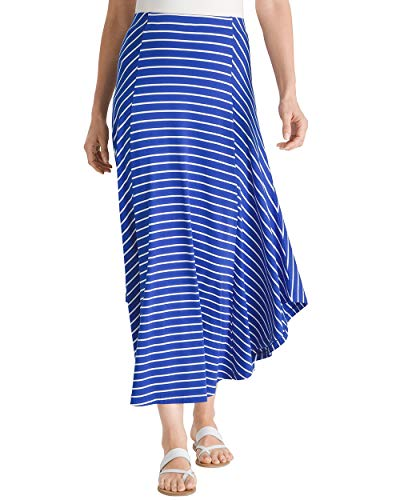 Chico's Women's Striped Maxi Skirt Size 8/10 M (1) Blue
