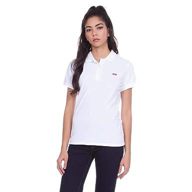 Camisa Polo Levis Feminina Slim Branca  Amazon.com.br  Amazon Moda 91019ed539752