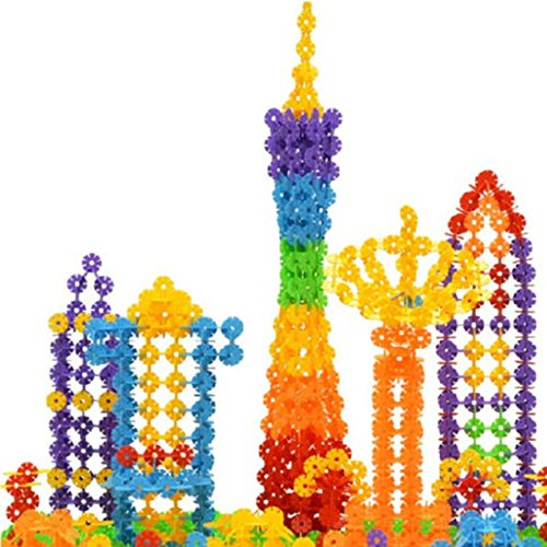 MAZIMARK--150pcs DIY Snowflake Puzzle Building Blocks Baby Kids Educational Toys Gift - Potter Diy Robe Harry