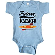 inktastic - Kayaking Future Kayaker Gift Infant Creeper 6 Months Baby Blue 2deab