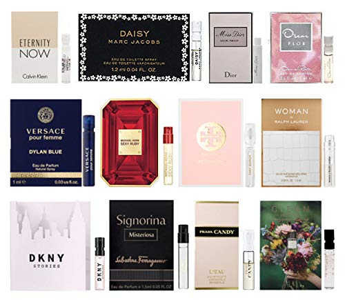 (12 Designer Fragrance Sample Vials for Women )