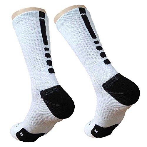 Liibot Athletic Dri-Fit Crew Socks For Football, Basketball, Lacrosse & Other Sports