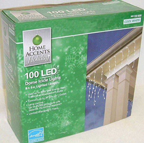 Home Accents 100 Led Dome Icicle Lights
