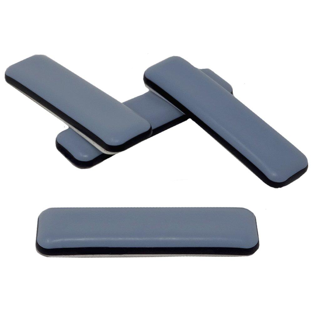 16-pieza Controles deslizantes de muebles de tefló n 19 x 70 mm Autoadhesivo, Controles deslizantes PTFE DFM