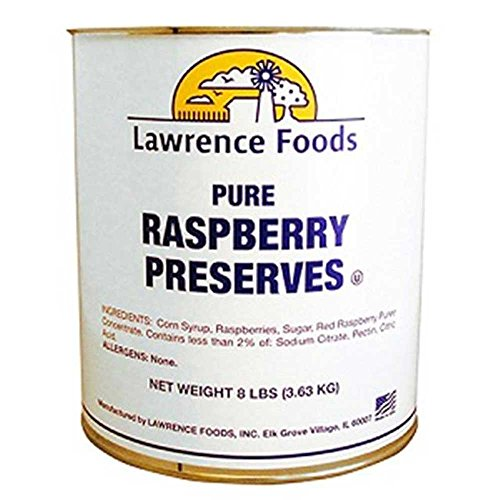 Raspberry Preserves, 10 Cans --- 6 Per Case by Lawrence Foods