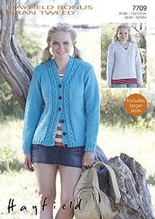 9c08bbd8c Hayfield Bonus Aran with Wool 400g - 7709 Cardigan   Sweater Knitting  Pattern