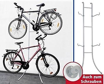 Fahrradständer Wohnung wenko fahrradständer duo stahl mit oder ohne bohren 220 x 77 x