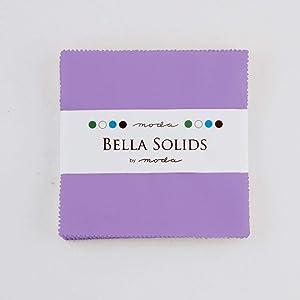Hyacinth Moda Bella Solids Charm Pack by Moda Fabrics; 42-5