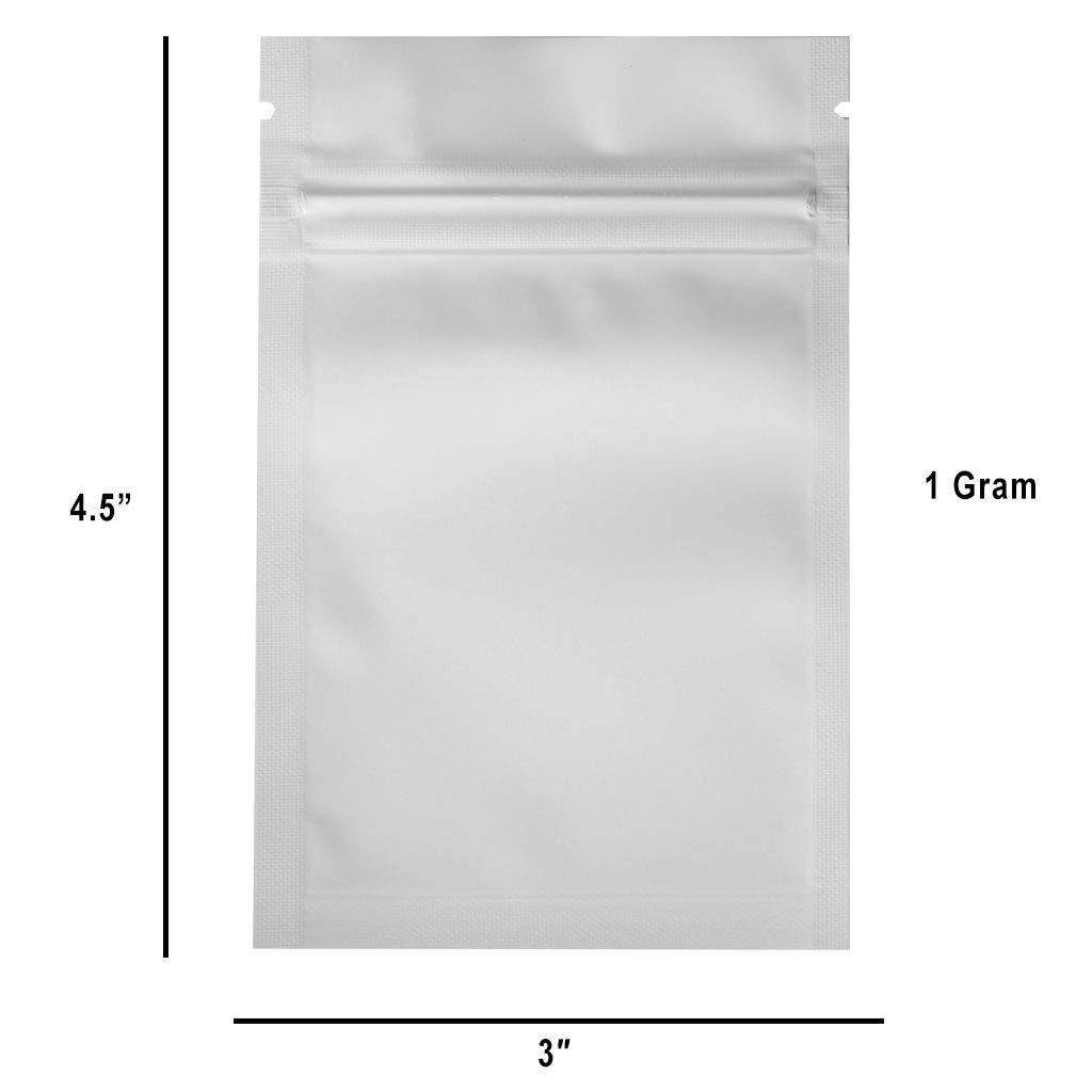 Amazon.com: 100 bolsas de polietileno transparente y blanco ...