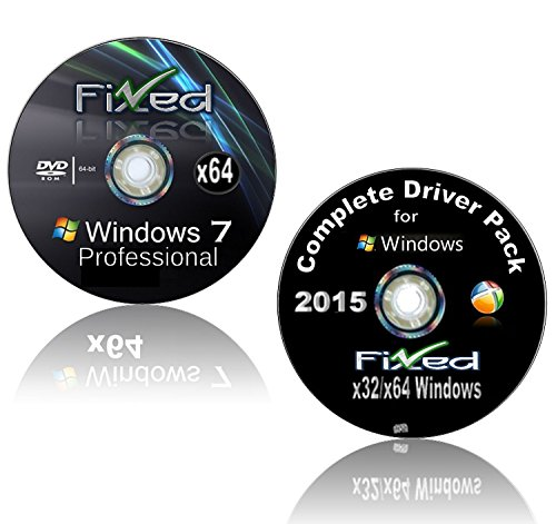 WINDOWS 7 Pro / Professional x64/64 Bit Re-install PLUS Drivers Disc included~ Repair/Recovery/Restore Boot Disc~...