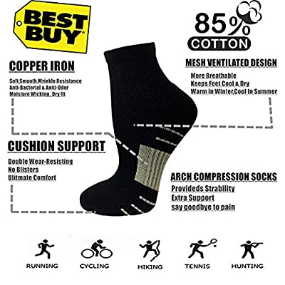 Copper Compression Running Socks For Men & Women-5/10 Pairs-Fit for Athletic,Travel& Medical: Clothing