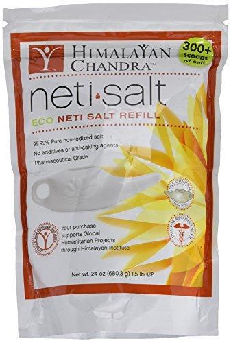 Himalayan Chandra Neti Salt Eco Neti Salt Refill 24 oz (1.5 lb) (680.3 g) Salt