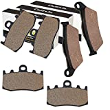CALTRIC FRONT REAR BRAKE PADS FIT BMW R1200GS R 1200GS 2004-2012 ADVENTURE TRIPLE BLACK