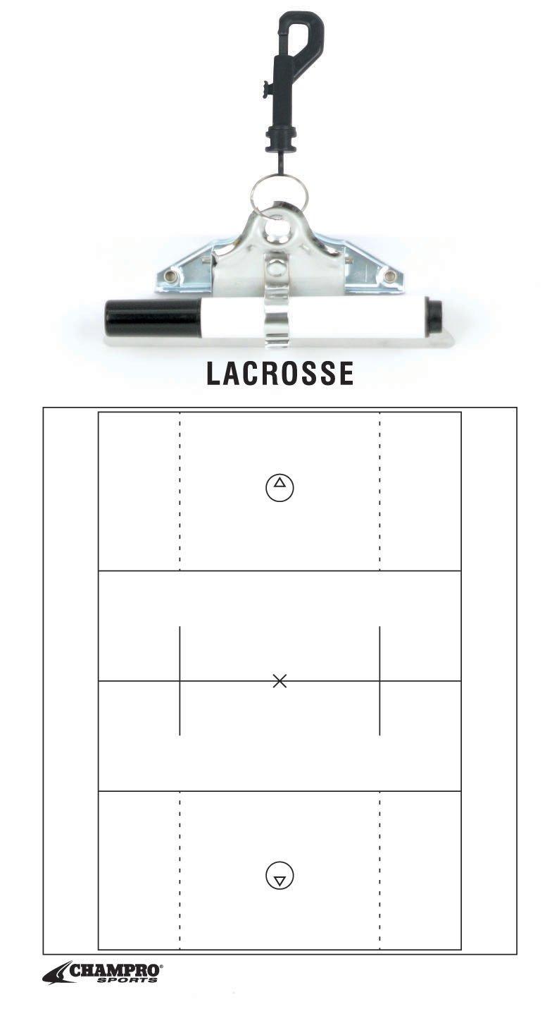 Champro Lacrosse Coach's Board (White, 12 x 9-Inch)