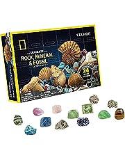 Kerst adventskalender 2021, helende kristallen adventskalender met 24st stickers Crystal Rock en minerale collectie adventskalender speelgoed, adventskalender voor kerstversieringen
