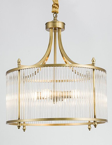 qiuxi High-end fashion Interior Ceiling lamp MAX:60W Chandelier , Country Brass Feature for Designers Metal Living Room / Bedroom / Dining Room / Study Room/Office , 110-120v
