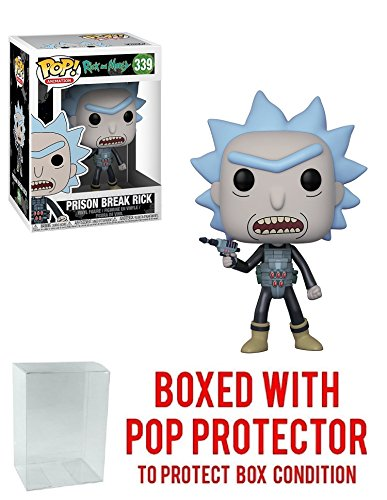 Funko Pop! Animation: Rick and Morty - Prison Break Rick #339 Vinyl Figure (Bundled with Pop Box Protector Case)
