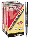 Pilot Precise V5 Stick Rolling Ball Pens, Extra Fine Point, 36 Pens, Black Ink (46054)